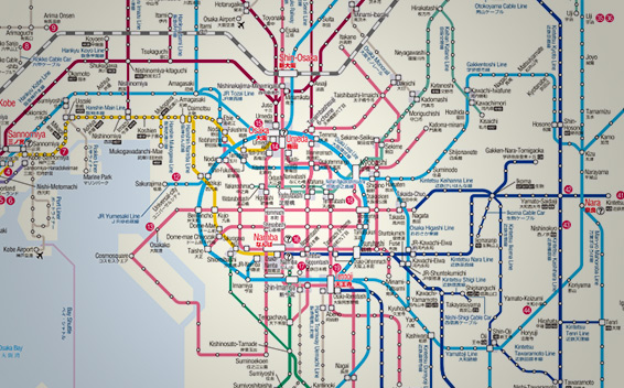 Kyoto Subway Map Vector.Japan Rail Pass Map Metro Maps Jrailpass