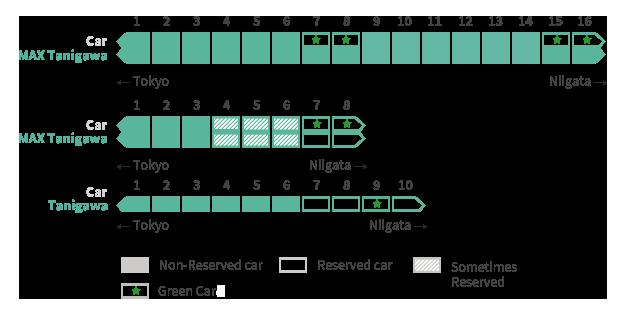 Tanigawa Shinkansen Seat reservation